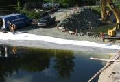 Instalations of Menbrane Seal Nepesiguit Dams