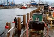 Réparations au quai de Shippagan, N.-B.