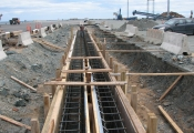 Trench Drain Installation, Port of Belledune